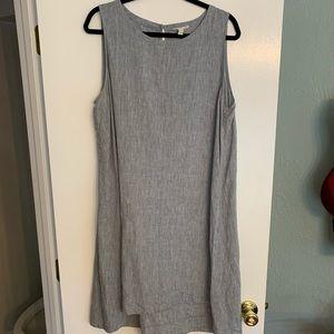 Eileen Fisher chambray 100% organic linen dress